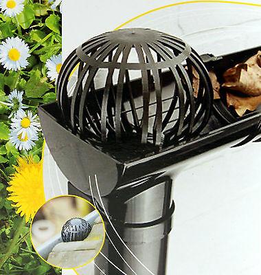 K/&B Vertrieb Bl/ättersieb 2 St/ück Fallrohrschutz Laubstopp Laubschutz Regenrohrschutz Dachrinnenschutz 684