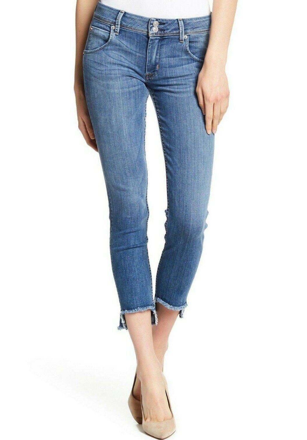 Nwt Hudson Sz27 Katze Ausgefranst Schritt-Saum Midrise Dünn Jeans Stretch