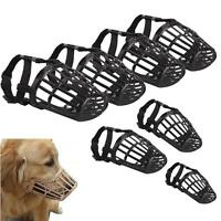 Pet Dog Muzzle PU Leather Basket Cage Adjustable Fashion Muzzle Size #1 to 7