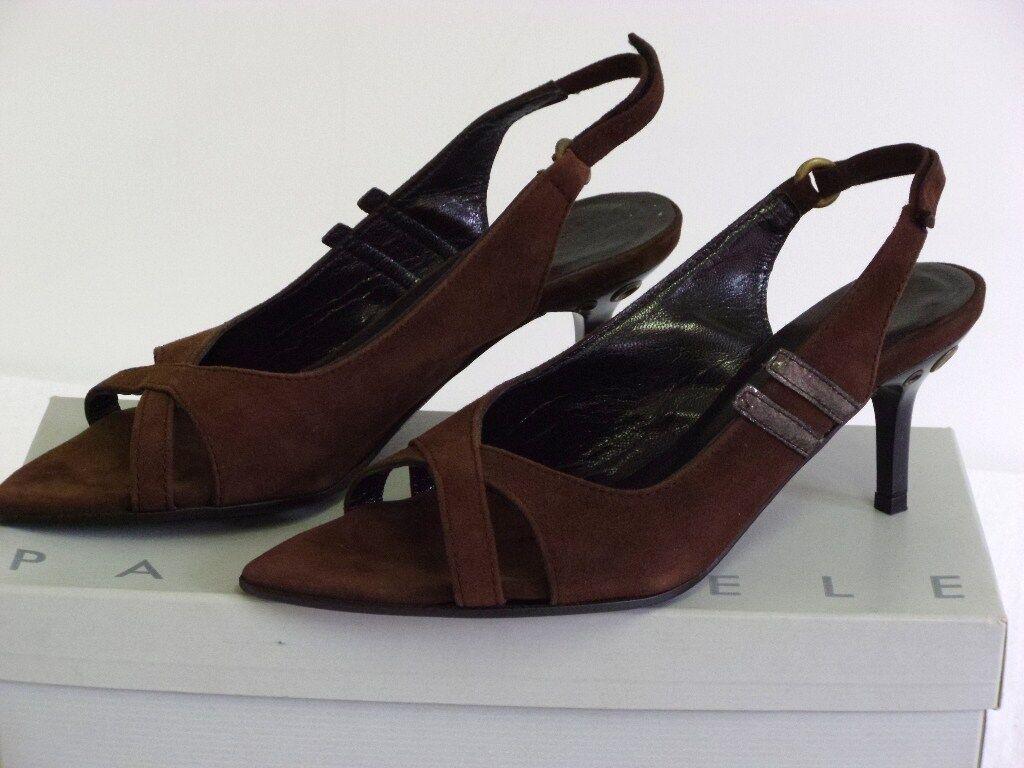 shoes ESCARPINS  PARALLELE  CHEVRE brown P. 36 NEUVES PRIX MAGASIN
