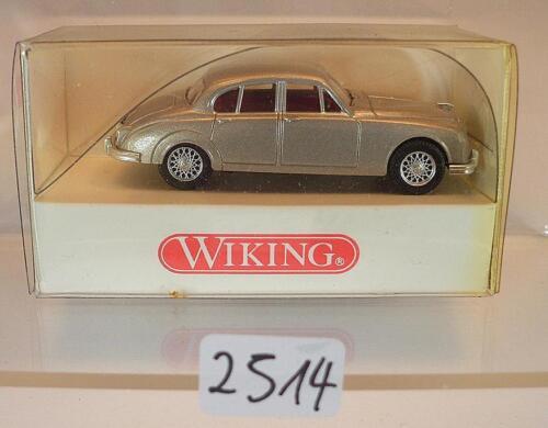 Wiking 1//87 nº 813 02 26 jaguar mk II sedán plata metálica OVP #2514