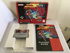 SUPER METROID Super Nintendo SNES GAME BIG BOX Complete Pal ~ Pics