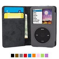 Ipod Classic Flip Case Gray Pu Leather Card Slots Storage Organizer Soft Gift