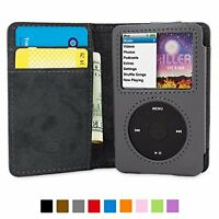 Ipod Classic Flip Case Gray Pu Leather Card Slots Storage Organizer Soft Gift