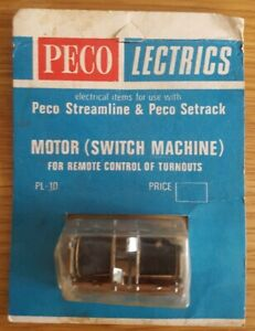 Peco Lectrics Peco Streamline & Peco Setrack Motor(remote Switch Machine)pl-10 Sensation Confortable