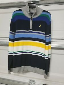 NWT-Nautica-Youth-Boy-039-s-Pullover-Sweater-Striped-Size-L-14-16