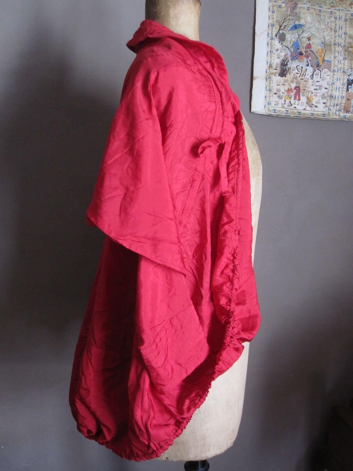 BELLE VESTE CHEMISE MARITHE FRANCOIS GIRBAUD rosso COQUELICOT T XS XS XS 34 36 PARFAIT 84c77d