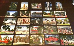Lot-of-25-Postcards-Lot-150-Florida-Linen-Finish-1930-s-to-1950-s