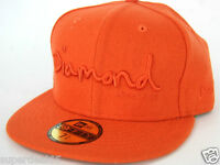 Diamond Supply Co. Cap Og Script Fitted Hat Era 59fifty Orange Diamond 1998