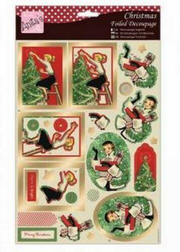 Do-crafts Anita Noël déjouée DECOUPIS-Rétro Noël pour Cartes//Artisanat