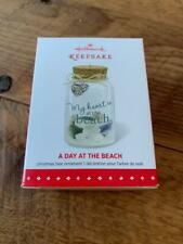Rare 2015 Hallmark A Day at the Beach Sand Bottle Xmas Keepsake Ornament MIB