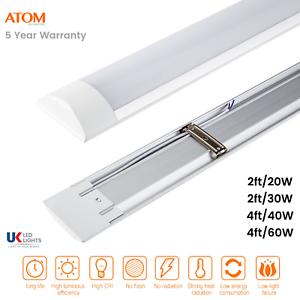 ATOM-LED-Batten-Tube-Light-Slim-Ceiling-Fitting-2ft-20W-30W-Cool-White
