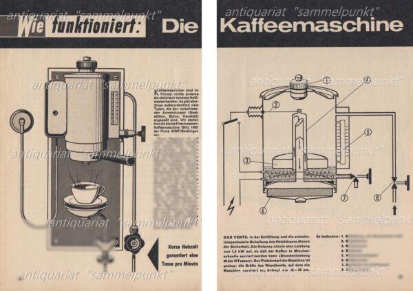 2019 Mode Wmf Blitz 1000 Frischwasser Kaffeemaschine - Original Bericht Von 1965