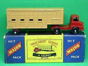 Matchbox-Lesney-M-7a-Ford-Thames-Trader-Jennings-remolque-para-ganado-bien-rara-agua-peptonada