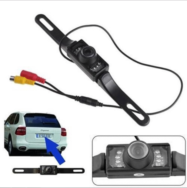 Car Rear View Reverse Backup Parking Camera Night Vision Waterproof 7 LED