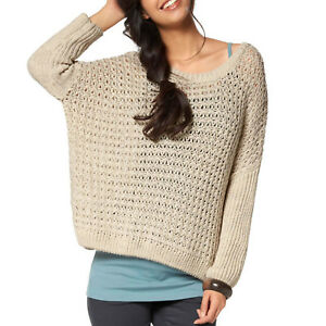 genial-10-Wolle-EDEL-Pullover-BEIGE-Cape-Poncho-Grobstrick-Gr-42-44