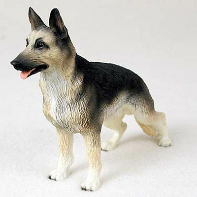 German Shepherd Figurine Hand Painted Collectible Statue