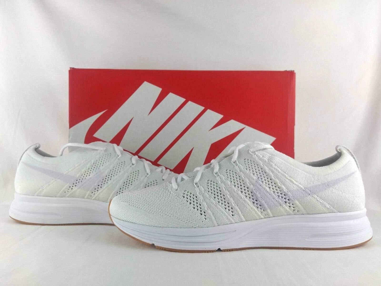 Nike Flyknit Trainer Triple White Gum Running shoes Lifestyle Casual AH8396-102