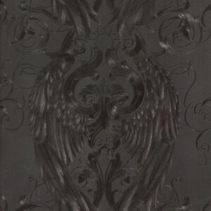 Vliestapete Harald Glööckler Engelsflügel schwarz Metallic 52578 (5,61€/1qm)