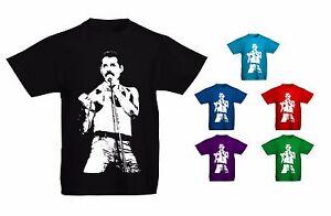 38fc3f532a8 Kids Childrens Freddie Mercury Queen Iconic Rock Pop T-shirt Sizes ...