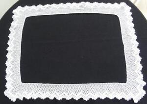Vintage-Crochet-Trim-Edge-1930s-Cream-Lace-Tablecloth-24-x-30-Inch