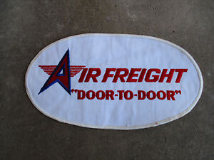 Details about vintage AIR FREIGHT DOOR TO DOOR trucking truck trucker  driver driving Patch