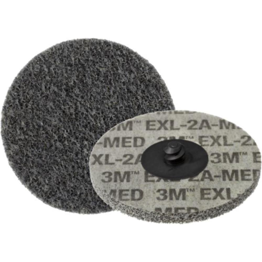 15x 3M Roloc Vlies-Kompaktscheiben XL-DR 2 S fine (entspricht ca. Korn 280) Ø 50