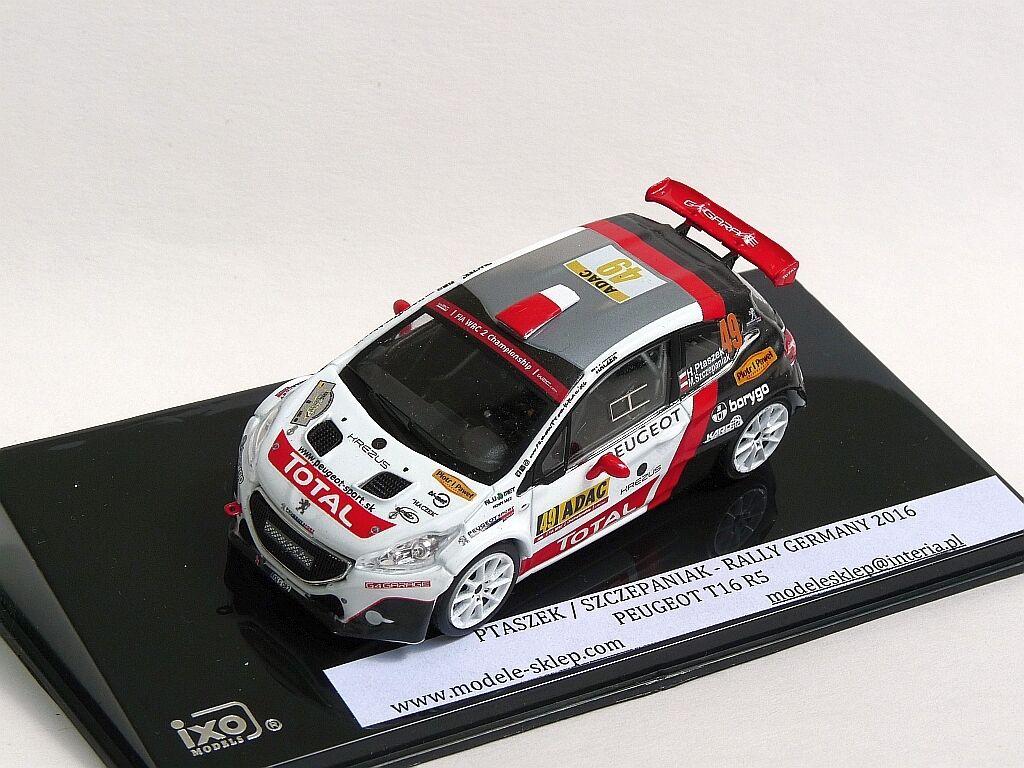 Hubert ptaszek PEUGEOT T16 R5  Rally Deutschland Allemagne ADAC 1 43 scale code 3  beaucoup de surprises