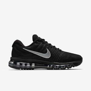sale retailer d619f 93715 Details about Nike Air Max 2017 Mens Running Training Black/White