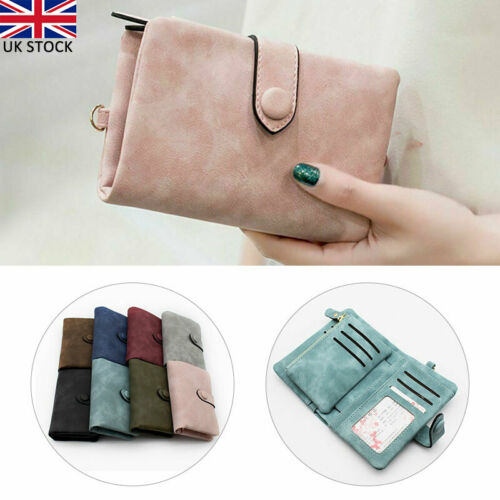Women Frosted Wallet Soft Bag Lay Coin Purse Mini Money Pocket Card Holder UK