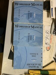 2006 Ford Econoline E-Series Van Shop Service Manual 1 & 2 ...