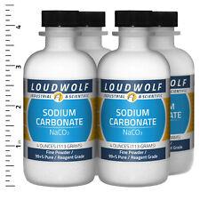 Sodium Carbonate 1 Lb Total 4 Bottles Reagent Grade Fine Powder Usa Seller