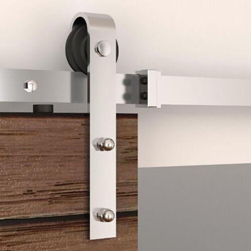 5-16FT Stainless Steel Sliding Barn Door Hardware Track Kit Roller Rail Set