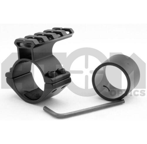 mount avec top weaver rail 25-30mm rifle scope accessory mount//torche laser