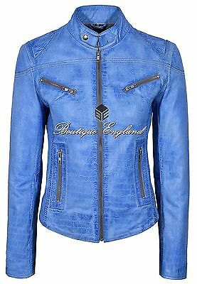 SPEED Ladies Leather Jacket Black Soft Light Leather Classic Biker Style SR-01