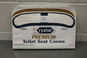 Krystal Toilet Seat Covers Pack Of 250 New Ebay