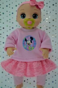 Dolls-Clothes-For-17-034-Baby-Alive-Real-As-Can-Be-LACE-SKIRT-LEGGINGS-TOP-HEADBAND