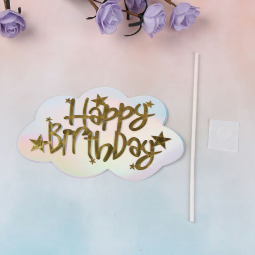 1pccloud happy birthday cake topper for party decoration dessert lovely giftsZP