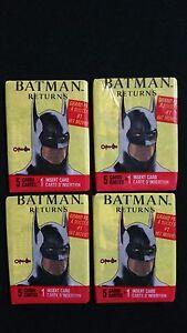 1992-OPC-Batman-Returns-Wax-Pack-4-Pack-Lot