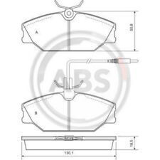 Vorderachse 9871 Bremsbelagsatz Bremsklotz Bremsklötze Bremse Bremsen OPTIMAL