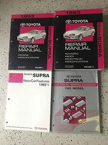 1993 toyota supra service shop repair manual set factory oem books 4 rh ebay com Toyota Supre 93 98 93 Toyota Celica
