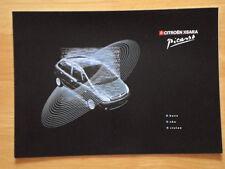 CITROEN Xsara Picasso range 1999 UK Market sales brochure