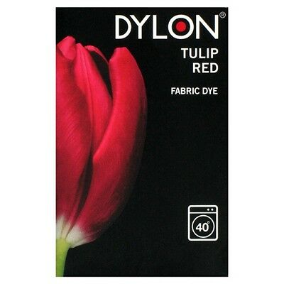 Dylon TULIP RED MACHINE DYE 200g Fabrics Cottons Linen Clothes Material Jeans