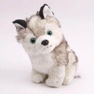Realistic Cute 18cm 7 1 Husky Dog Plush Animal Soft Stuffed Toy