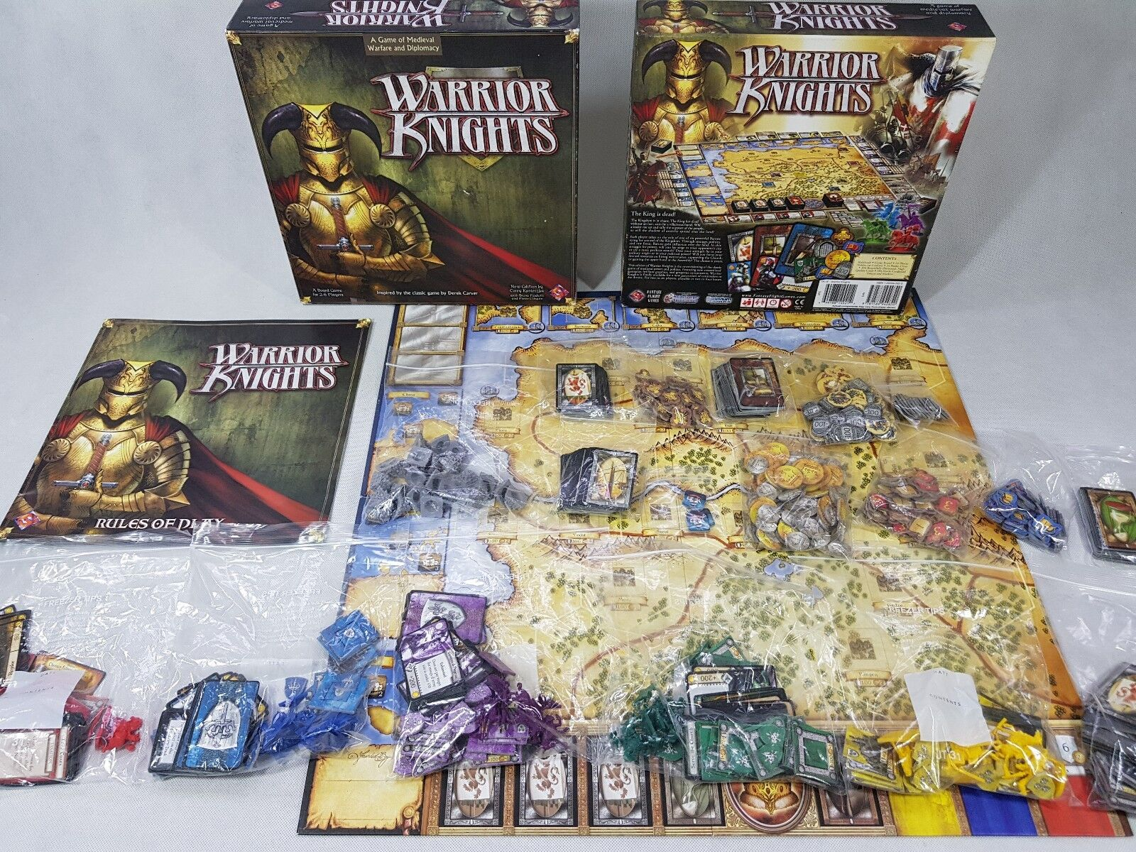 FFG fantasyc volo giocos-Warrior Knights 100% COMPLETO COMPLETO COMPLETO tavola gioco [ENG, 2006] efd169