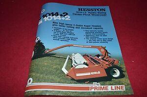 Hesston 1014+2 Hydro Swing Mower Conditioner Dealer's