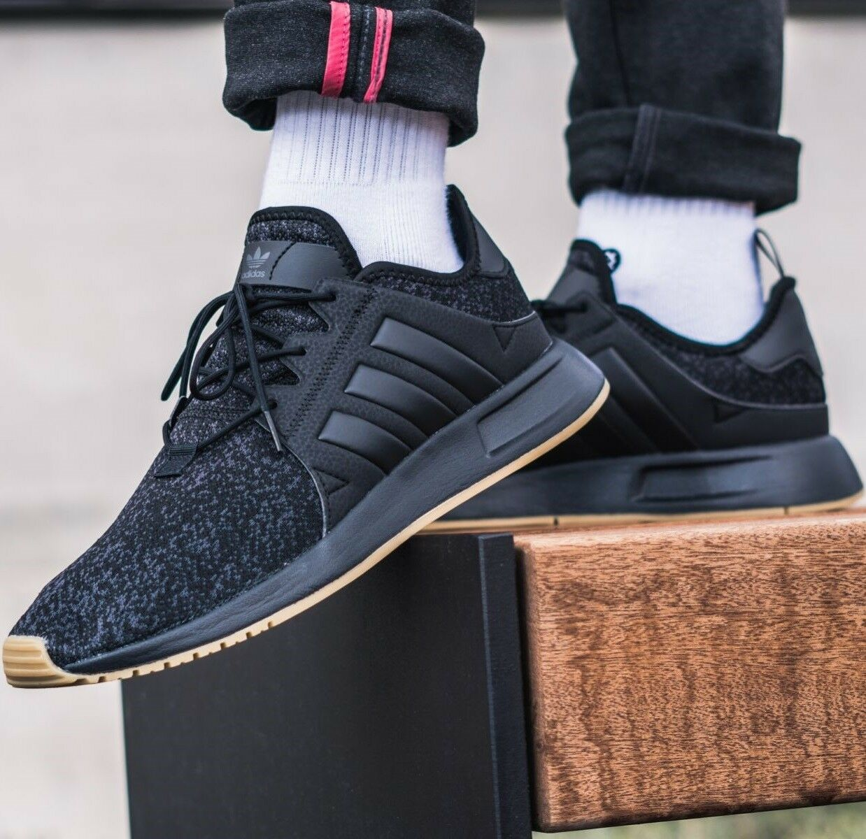 ADIDAS ORIGINALS X PLR Black/Gum LIFSTYLE MEN'S RUNNING SHOES COMFY LIFSTYLE Black/Gum SNEAKERS 817924