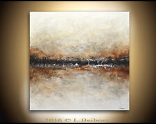 LARGE ORIGINAL 36 x 36 ABSTRACT ART TEXTURED MODERN OIL PAINTING ~~ L. Beiboer