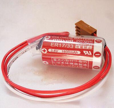 5pcs OMRON C500-BAT08 3G2A9-BAT08 3.6V 1600mAh Battery PLC Battery With Plug