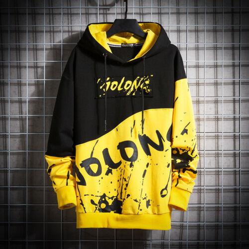 Hommes barbouiller Hoodies printemps 2020 Sweat-shirt Graffiti Hoodies Hip-Hop coton Sweat à capuche